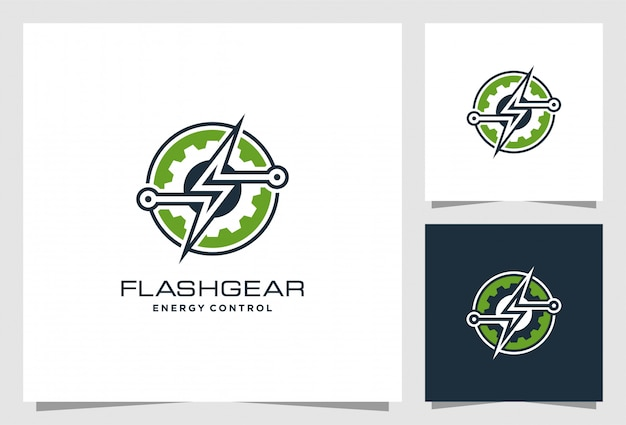 Flash gear logo design