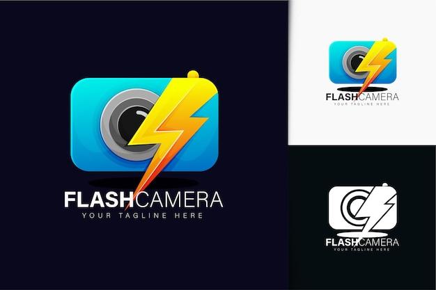 Flash-kamera-logo-design mit farbverlauf