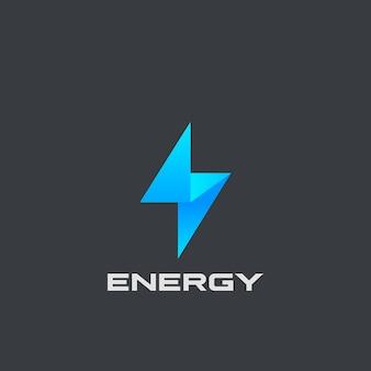 Flash-logo isoliert auf schwarz