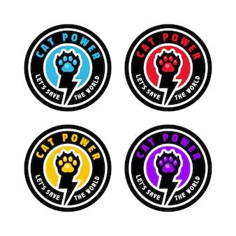 Flash paw power badge