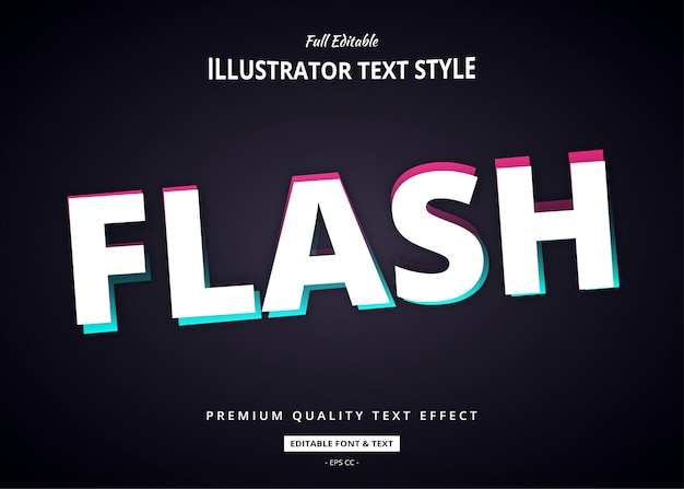 Flash pink blau text style effekt