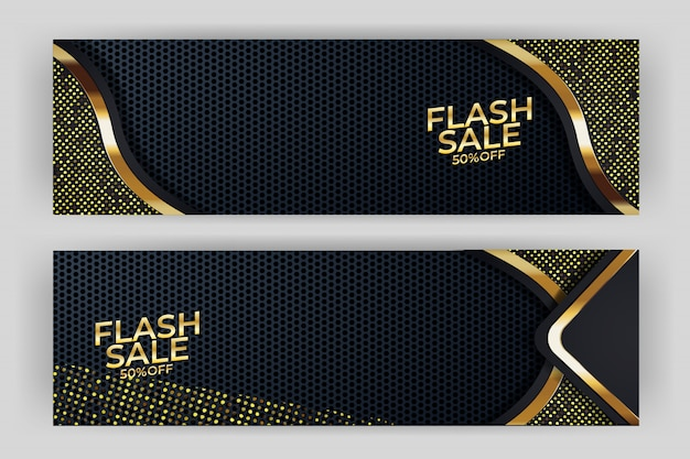Flash sale banner hintergrund luxus-design