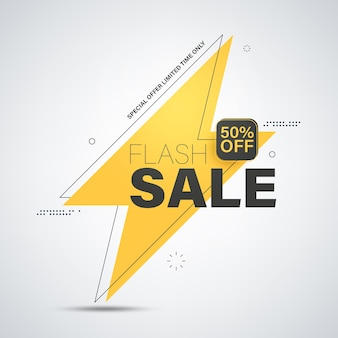 Flash sale banner vorlage design