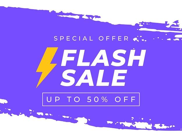 Flash sale banner vorlage werbeplakat sonderangebot bis zu 50 von