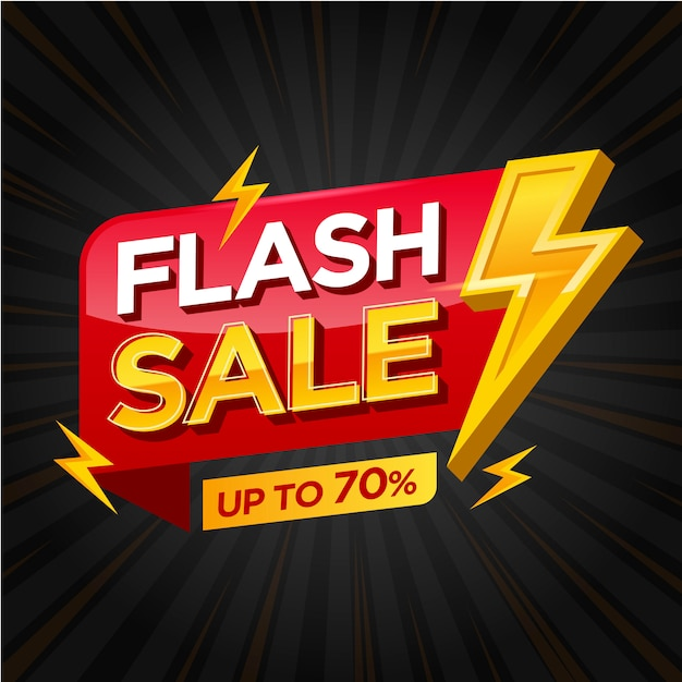 Flash sale banner vorlage