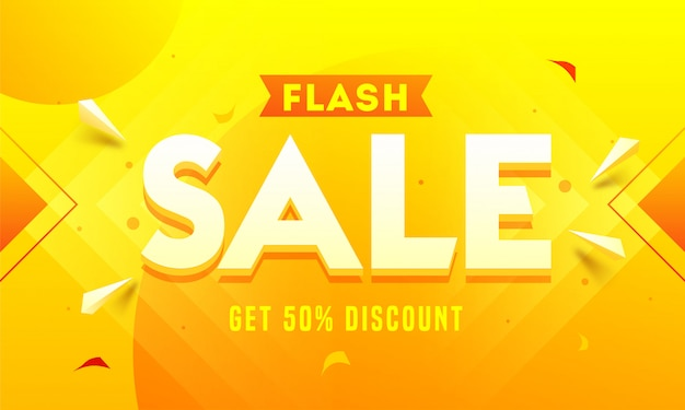 Flash sale banner.