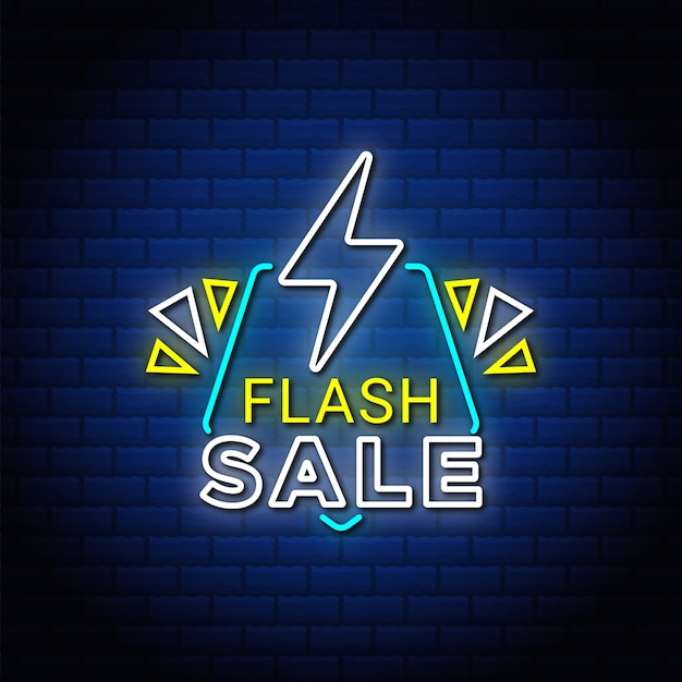 Flash sale leuchtreklamen stil text