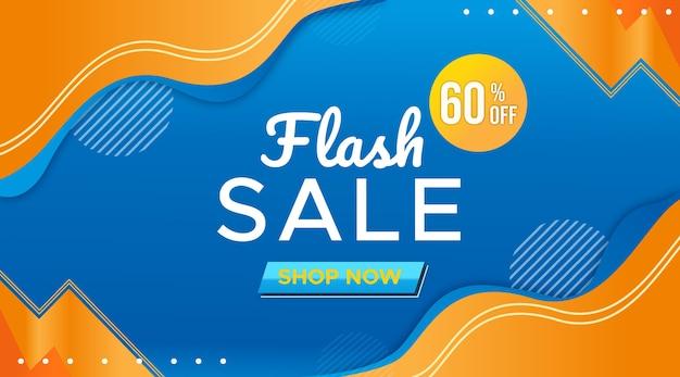 Flash sale promotion banner