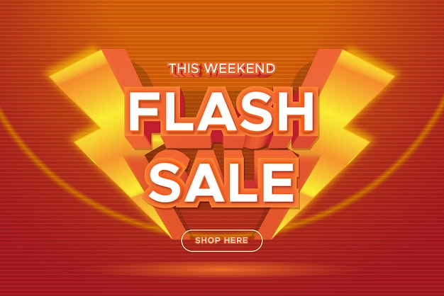 Flash sale promotion banner