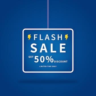 Flash sale promotion banner.