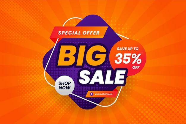 Flash sale rabatt banner promotion