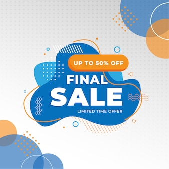Flash sale rabatt banner vorlage promotion