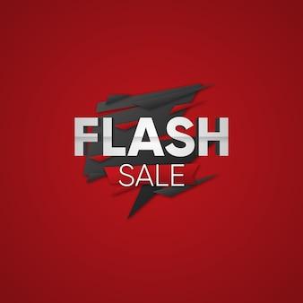 Flash sale textabzeichen