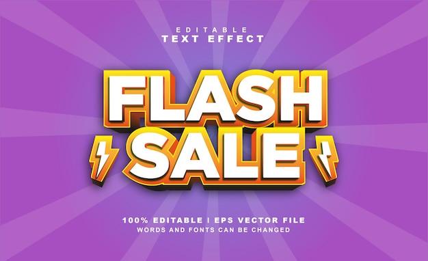 Flash sale texteffekt kostenloser eps vektor