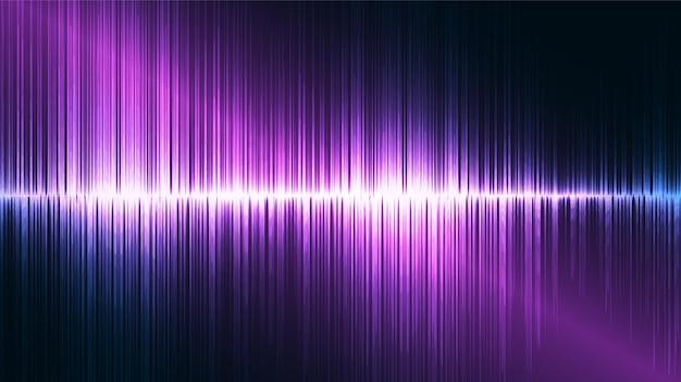 Flash sound wave hintergrund, technologie und erdbebenwellendiagrammkonzept, design für musikstudio und wissenschaft, vektorillustration.