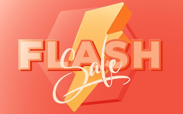 Flash-verkauf-banner-vorlagendesign. vektor-illustration.