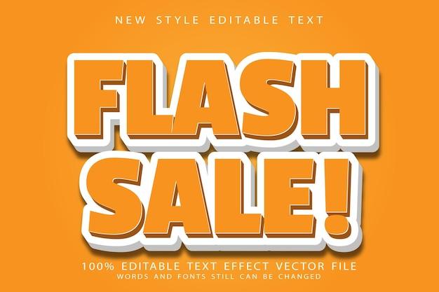Flash-verkauf bearbeitbarer texteffekt prägen cartoon-stil