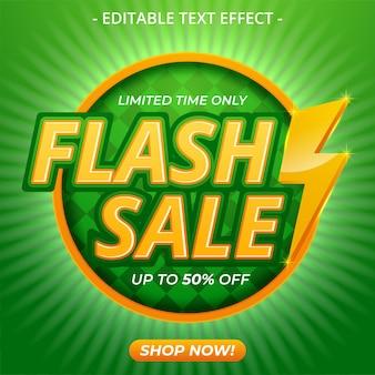 Flash-verkauf helle banner-design-vorlage