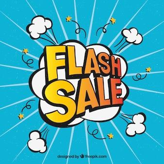 Flash-verkauf hintergrund in comic-stil
