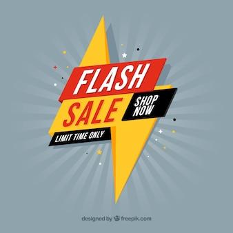 Flash-verkauf hintergrund in flachen stil