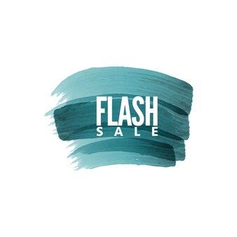 Flash-verkauf-label abzeichen pinsel stil