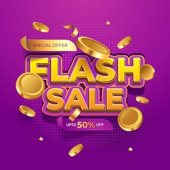 Flash-verkauf moderne banner-werbevorlage