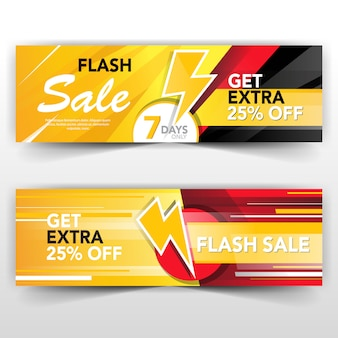 Flash-verkaufsbanner