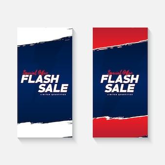 Flash-verkaufsbanner