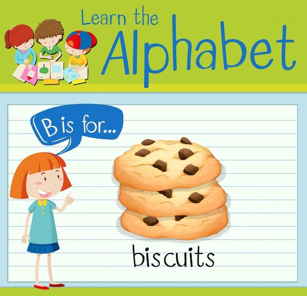 Flashcard alphabet b ist für kekse