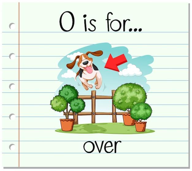 Flashcard alphabet o ist vorbei