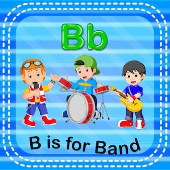 Flashcard buchstabe b ist für band