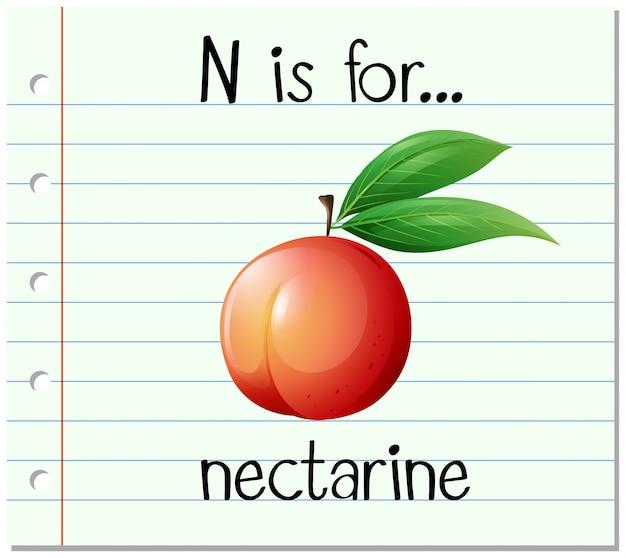 Flashcard buchstabe n ist für nektarine