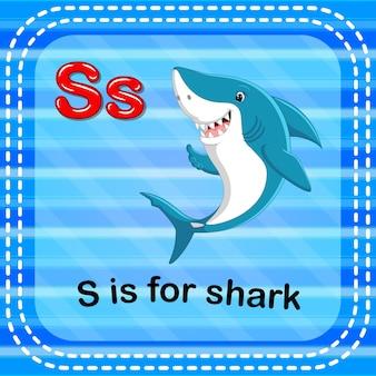 Flashcard buchstabe s ist für hai