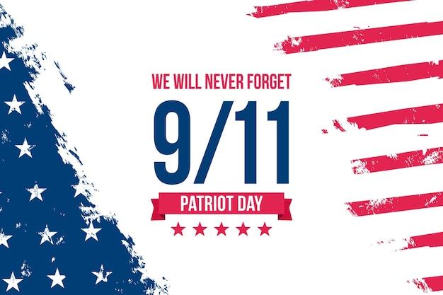Flat 9.11 patriot tag hintergrund
