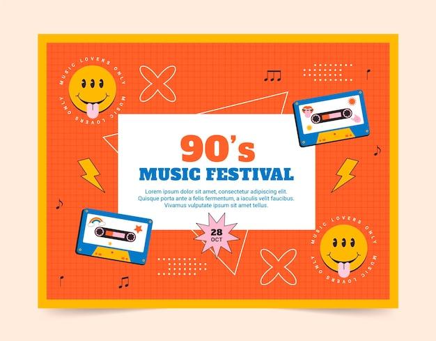 Flat 90er nostalgisches musikfestival fototermin