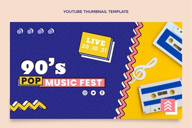 Flat 90er nostalgisches musikfestival youtube thumbnail