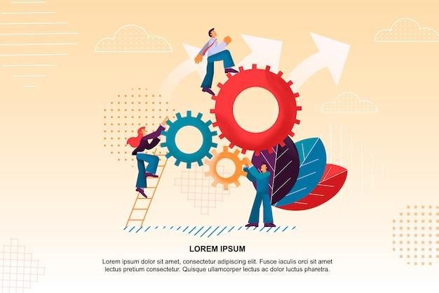 Flat banner daily brainstorming ist der beste mitarbeiter.