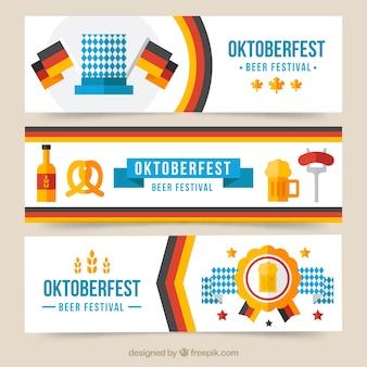 Flat banner für deutsche party