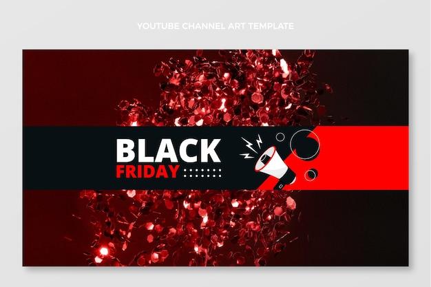 Flat black friday youtube-kanalkunst