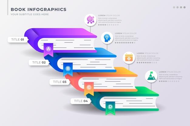Flat book infografiken