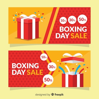 Flat boxing day sale banner