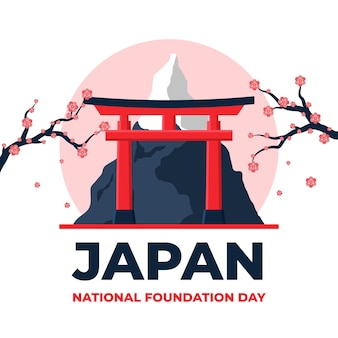 Flat design foundation day japan