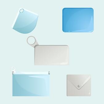 Flat design gesichtsmaske aufbewahrungskoffer pack