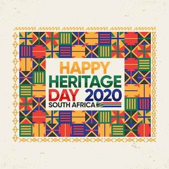 Flat design heritage day event