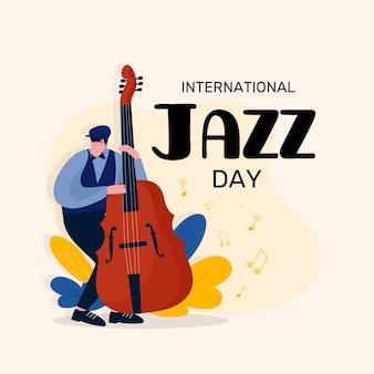 Flat design internationala jazz day event