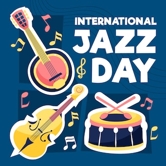 Flat design internationala jazz day