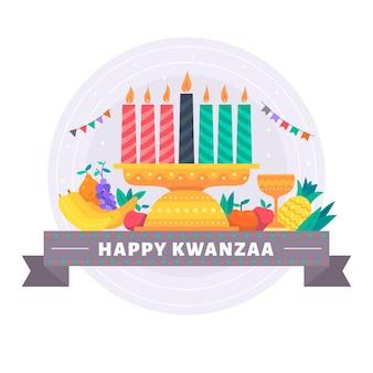 Flat design kwanzaa konzept