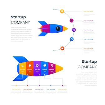 Flat design startup infografik