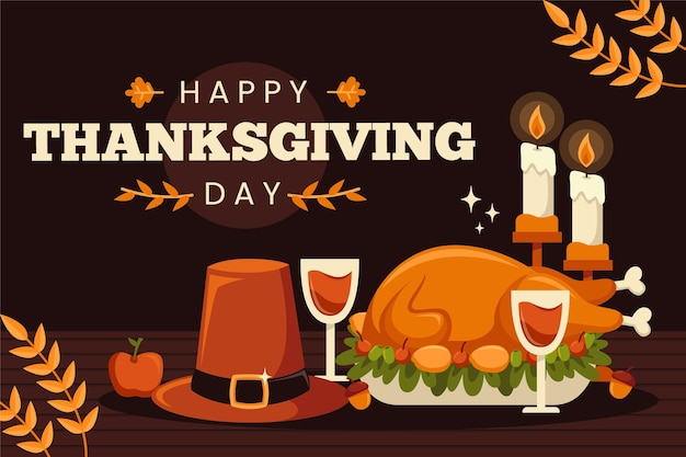 Flat design thanksgiving hintergrund