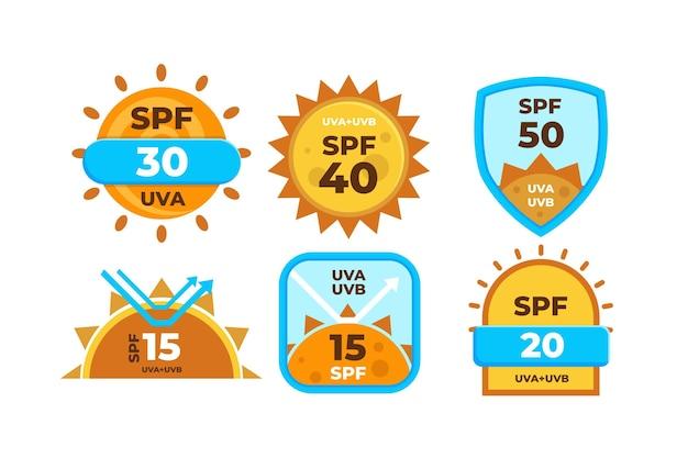 Flat design uv-abzeichen pack